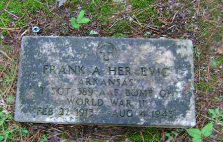 HERLEVIC (VETERAN WWII), FRANK A. - Ashley County, Arkansas | FRANK A. HERLEVIC (VETERAN WWII) - Arkansas Gravestone Photos