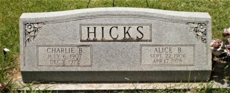 HICKS, CHARLIE B. - Ashley County, Arkansas | CHARLIE B. HICKS - Arkansas Gravestone Photos