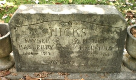 HICKS, RASBERRY - Ashley County, Arkansas   RASBERRY HICKS - Arkansas Gravestone Photos