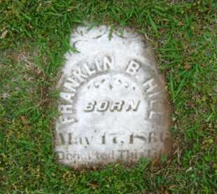HILL, FRANKLIN B - Ashley County, Arkansas | FRANKLIN B HILL - Arkansas Gravestone Photos