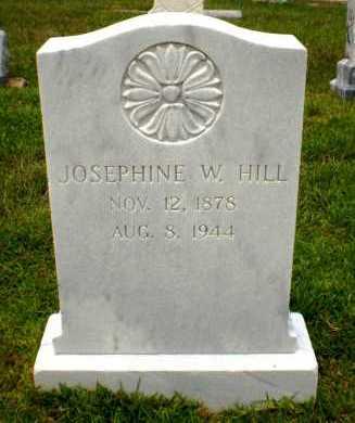 HILL, JOSEPHINE W - Ashley County, Arkansas | JOSEPHINE W HILL - Arkansas Gravestone Photos