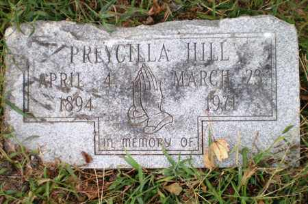 HILL, PREYCILLA - Ashley County, Arkansas   PREYCILLA HILL - Arkansas Gravestone Photos