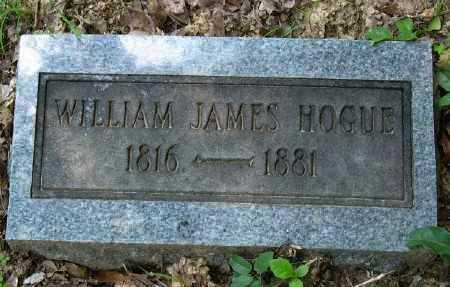 HOGUE, WILLIAM JAMES - Ashley County, Arkansas | WILLIAM JAMES HOGUE - Arkansas Gravestone Photos