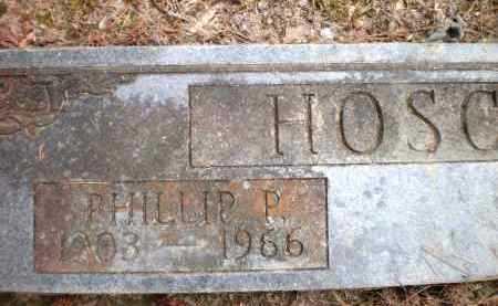 HOSCH, PHILLIP P - Ashley County, Arkansas   PHILLIP P HOSCH - Arkansas Gravestone Photos