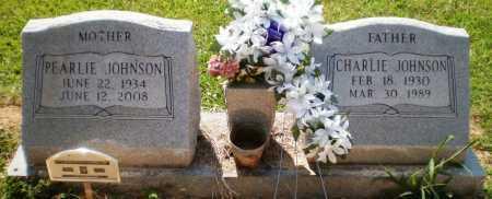 JOHNSON, CHARLIE - Ashley County, Arkansas | CHARLIE JOHNSON - Arkansas Gravestone Photos