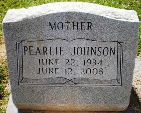 JOHNSON, PEARLIE (CLOSE UP) - Ashley County, Arkansas | PEARLIE (CLOSE UP) JOHNSON - Arkansas Gravestone Photos
