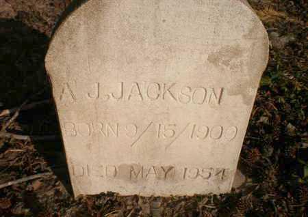 JACKSON, A J - Ashley County, Arkansas | A J JACKSON - Arkansas Gravestone Photos
