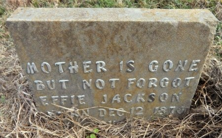 JACKSON, EFFIE - Ashley County, Arkansas | EFFIE JACKSON - Arkansas Gravestone Photos