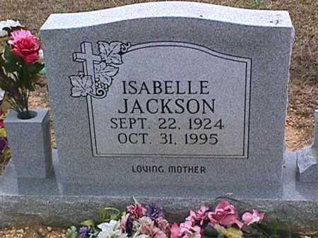 JACKSON, ISABELLE - Ashley County, Arkansas   ISABELLE JACKSON - Arkansas Gravestone Photos