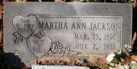 JACKSON, MARTHA ANN - Ashley County, Arkansas | MARTHA ANN JACKSON - Arkansas Gravestone Photos