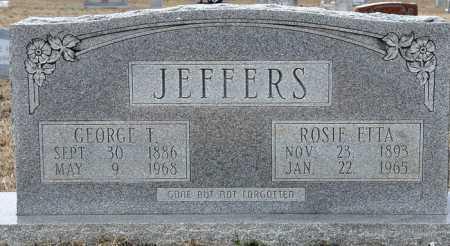 KING JEFFERS, ROSIE ETTA - Ashley County, Arkansas | ROSIE ETTA KING JEFFERS - Arkansas Gravestone Photos