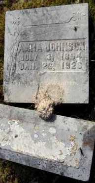 JOHNSON, ANNA - Ashley County, Arkansas   ANNA JOHNSON - Arkansas Gravestone Photos