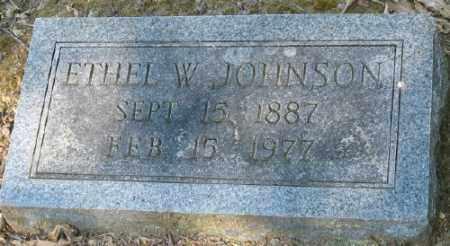 JOHNSON, ETHEL W. - Ashley County, Arkansas   ETHEL W. JOHNSON - Arkansas Gravestone Photos