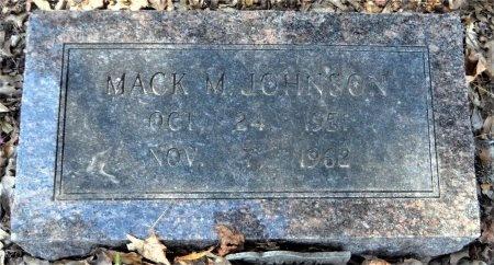 JOHNSON, MACK M - Ashley County, Arkansas | MACK M JOHNSON - Arkansas Gravestone Photos