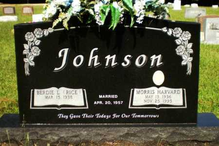 JOHNSON, MORRIS HARVARD - Ashley County, Arkansas   MORRIS HARVARD JOHNSON - Arkansas Gravestone Photos