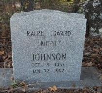 JOHNSON, RALPH EDWARD (BUTCH) - Ashley County, Arkansas | RALPH EDWARD (BUTCH) JOHNSON - Arkansas Gravestone Photos