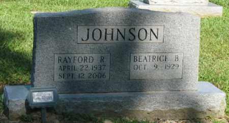 JOHNSON, RAYFORD R. - Ashley County, Arkansas | RAYFORD R. JOHNSON - Arkansas Gravestone Photos
