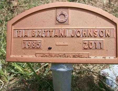 JOHNSON, TIA BRITTANI - Ashley County, Arkansas | TIA BRITTANI JOHNSON - Arkansas Gravestone Photos