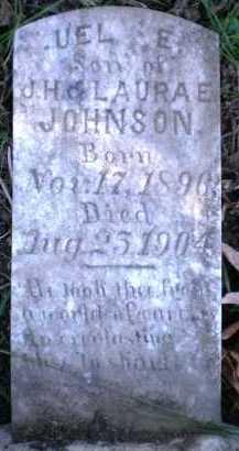 JOHNSON, UEL E - Ashley County, Arkansas | UEL E JOHNSON - Arkansas Gravestone Photos
