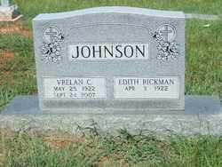 JOHNSON, VRELAN C - Ashley County, Arkansas   VRELAN C JOHNSON - Arkansas Gravestone Photos