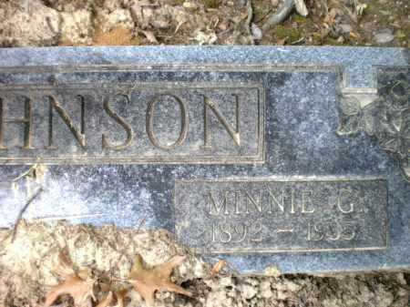 JOHNSON, MINNIE G - Ashley County, Arkansas | MINNIE G JOHNSON - Arkansas Gravestone Photos