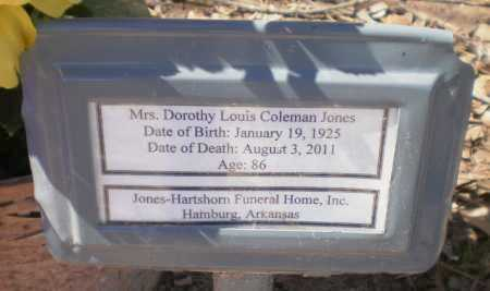 JONES, DOROTHY LOUIS - Ashley County, Arkansas   DOROTHY LOUIS JONES - Arkansas Gravestone Photos