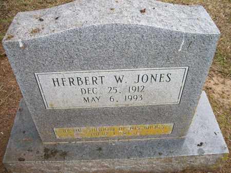JONES, HERBERT W - Ashley County, Arkansas   HERBERT W JONES - Arkansas Gravestone Photos