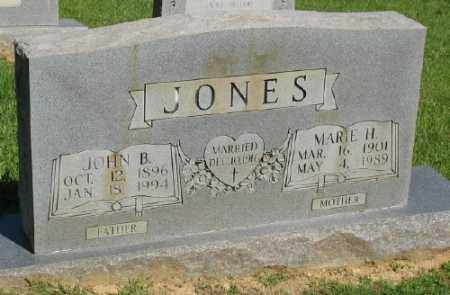 JONES, MARIE H, - Ashley County, Arkansas | MARIE H, JONES - Arkansas Gravestone Photos