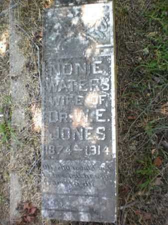 JONES, NONIE - Ashley County, Arkansas | NONIE JONES - Arkansas Gravestone Photos
