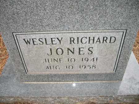 JONES, WESLEY RICHARD - Ashley County, Arkansas | WESLEY RICHARD JONES - Arkansas Gravestone Photos