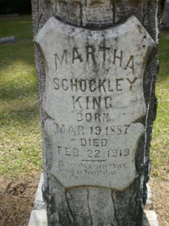 SCHOCKLEY KING, MARTHA (CLOSE UP) - Ashley County, Arkansas | MARTHA (CLOSE UP) SCHOCKLEY KING - Arkansas Gravestone Photos