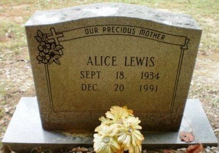 LEWIS, ALICE - Ashley County, Arkansas   ALICE LEWIS - Arkansas Gravestone Photos