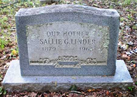 GEE LINDER, SALLIE - Ashley County, Arkansas | SALLIE GEE LINDER - Arkansas Gravestone Photos