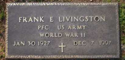 LIVINGSTON (VETERAN WWII), FRANK E - Ashley County, Arkansas | FRANK E LIVINGSTON (VETERAN WWII) - Arkansas Gravestone Photos