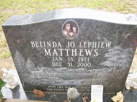 MATTHEWS, BELINDA JO - Ashley County, Arkansas   BELINDA JO MATTHEWS - Arkansas Gravestone Photos