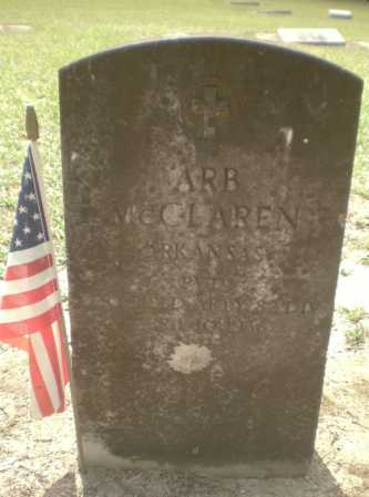 MCCLAREN (VETERAN WWI), ARB - Ashley County, Arkansas | ARB MCCLAREN (VETERAN WWI) - Arkansas Gravestone Photos