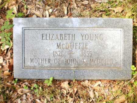 MCDUFFIE, ELIZABETH - Ashley County, Arkansas | ELIZABETH MCDUFFIE - Arkansas Gravestone Photos