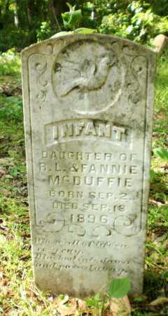 MCDUFFIE, INFANT DAUGHTER - Ashley County, Arkansas   INFANT DAUGHTER MCDUFFIE - Arkansas Gravestone Photos