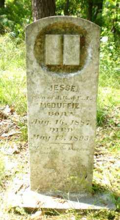 MCDUFFIE, JESSE - Ashley County, Arkansas | JESSE MCDUFFIE - Arkansas Gravestone Photos
