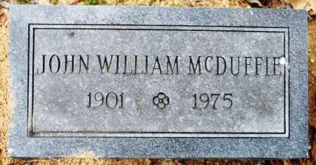 MCDUFFIE, JOHN WILLIAM - Ashley County, Arkansas | JOHN WILLIAM MCDUFFIE - Arkansas Gravestone Photos