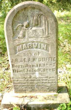 MCDUFFIE, MARVIN - Ashley County, Arkansas   MARVIN MCDUFFIE - Arkansas Gravestone Photos