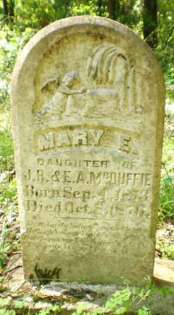 MCDUFFIE, MARY E - Ashley County, Arkansas   MARY E MCDUFFIE - Arkansas Gravestone Photos
