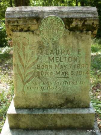 MELTON, LAURA E - Ashley County, Arkansas   LAURA E MELTON - Arkansas Gravestone Photos