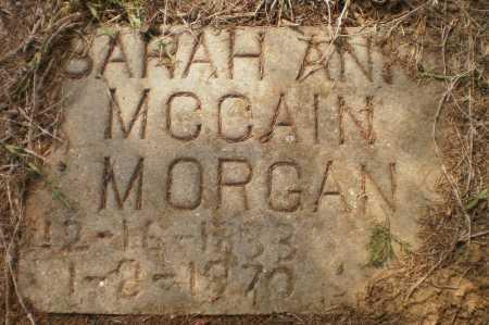 MCCAIN MORGAN, SARAH ANN - Ashley County, Arkansas | SARAH ANN MCCAIN MORGAN - Arkansas Gravestone Photos