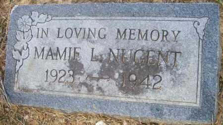 NUGENT, MAMIE L - Ashley County, Arkansas   MAMIE L NUGENT - Arkansas Gravestone Photos