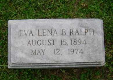 RALPH, EVA LENA B - Ashley County, Arkansas   EVA LENA B RALPH - Arkansas Gravestone Photos