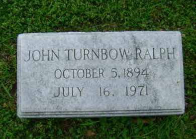 RALPH, JOHN TURNBOW - Ashley County, Arkansas   JOHN TURNBOW RALPH - Arkansas Gravestone Photos