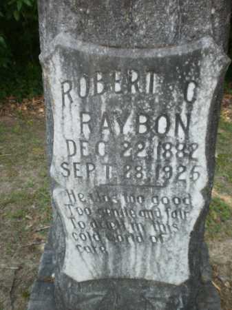 RAYBON, ROBERT C (CLOSE UP) - Ashley County, Arkansas | ROBERT C (CLOSE UP) RAYBON - Arkansas Gravestone Photos