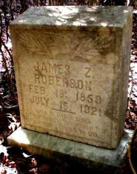 ROBERSON, JAMES Z - Ashley County, Arkansas   JAMES Z ROBERSON - Arkansas Gravestone Photos