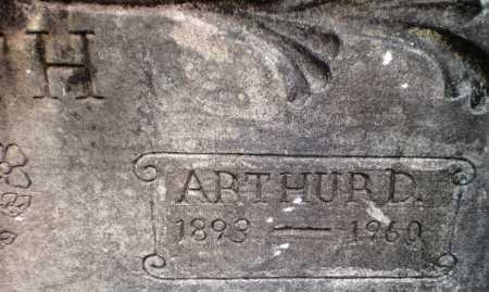 SMITH, ARTHUR D (CLOSE UP) - Ashley County, Arkansas | ARTHUR D (CLOSE UP) SMITH - Arkansas Gravestone Photos